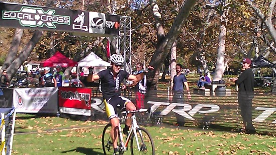 Jay crossing the line at So Cal Cross 11.24.13.  Another Win!!
